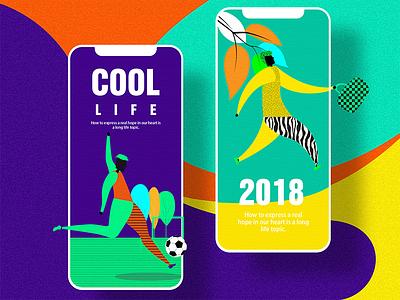I hope I can have a way of life—03 web ux ui landing interface illustration hero digital colors