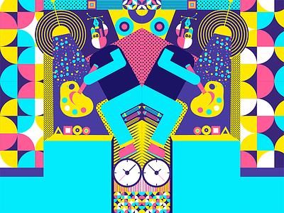 Explore geometric illustration series 1 geometry design illustration colors