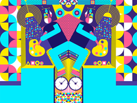 Explore geometric illustration series 1