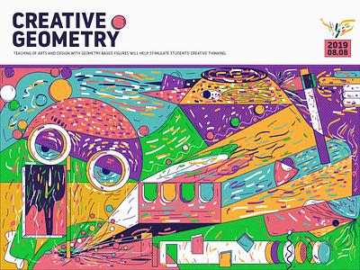 Creative Geometry 01 interface design illustration colors