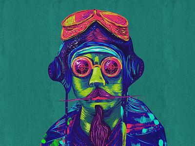 Steampunk illustration style-02 vector design digital colors illustration