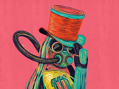 Steampunk illustration style-03 vector design colors illustration