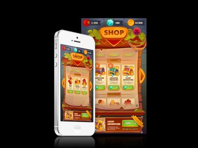 Game shop UI concept