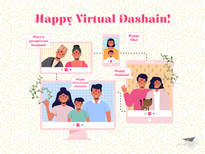 Happy Virtual Dashain! illustration dashain
