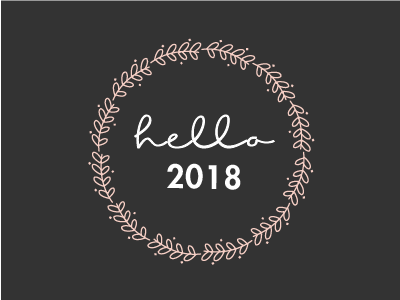 Hello 2018 newyear wreath