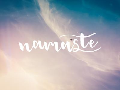 Namaste hand lettering namaste