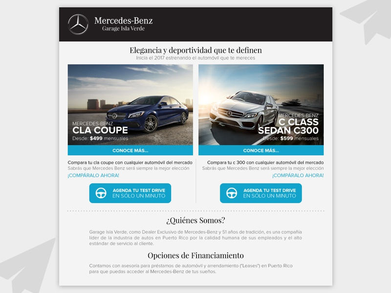 Mercedes Benz - Mailing HTML mail cars code mailing html