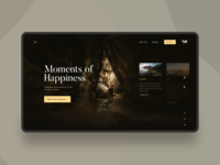 Moments of Happiness web figmadesign travel agency travel web design ui ux