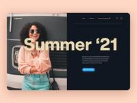 Design Concept #1 challenge typography website ux ui web design landing page