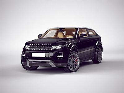Range Rover CGI 2 black range rover car 3d texturing lighting