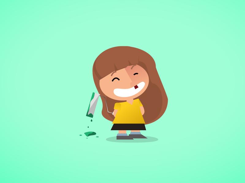 Cartoon Cartoons! cartoon illustration vector kid green paint broken tooth