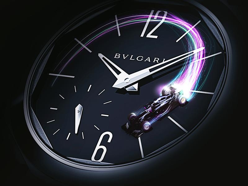 Bvlgari KV light invite design 3d illustration bvlgari