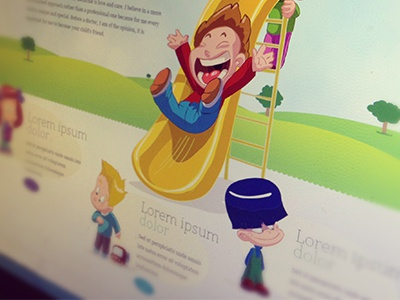 Web layout of pediatric doctor aakreit sachdeva doctor illustrative web design art direction