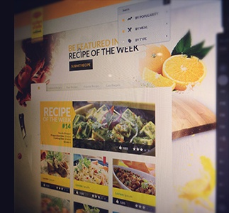 Preview Recipe App recipe web design image manipulation search cooking tabular