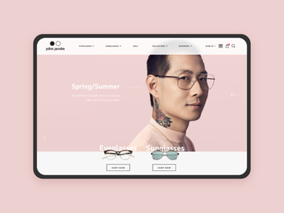 John Jacobs Eyewear Website