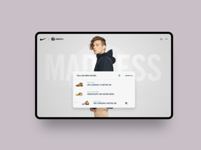 Nike Homepage homepage web design ux uiux ui typography online shop minimal design creative landing page design ecommerce clean blog 2019 design trend nike