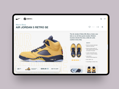 Nike Product Page figmadesign product detail page product nike ecommerce website uiux 2019 design trend web design ux ui