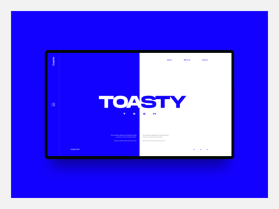 Toasty Tech Layout Experiment split technology web design ux uiux ui typography minimal design creative landing page design clean