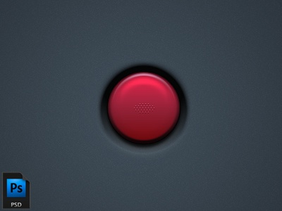 Push It free psd red button push photoshop freebie