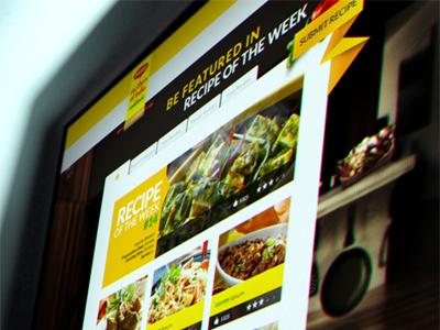 Recipe App Preview 2 web design cooking recipe submit ui