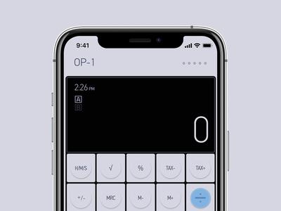 DailyUI 04 - Calculator App op1 minimal app dailyui004 ui design ui prototype dailyui