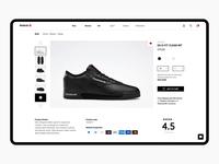 Reebok Product page