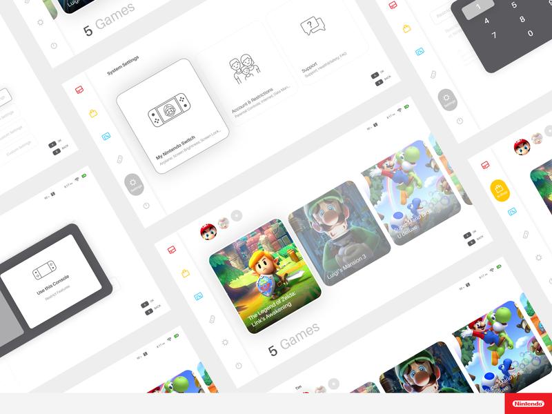 DailyUI 07 - Settings (Nintendo Switch) ui super settings nintendo mario design dailyui console 2020