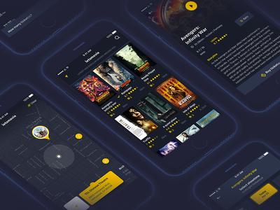 Letsmovie ui trend position movie map interface entertainment design city cinema around