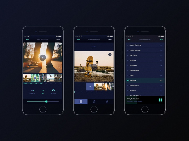 Orama App fun stream music cool editing video flat app design
