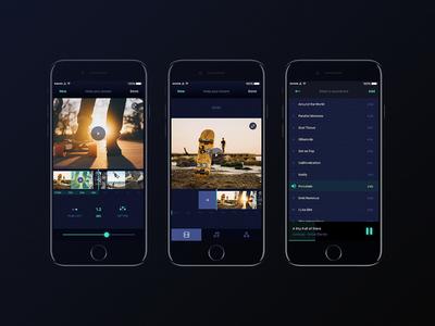 Orama App fun stream music cool editing video flat app design