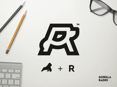 Gorilla Radio 2019 2018 icon branding vector logo interaction illustration cool app flat design