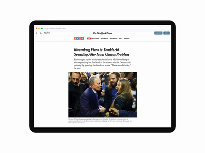 DailyUI 01 - New York Times Sign Up (NYT Browser on Tablet) dailyui 001 dailyui today minimal account sign up york new daily app design ux