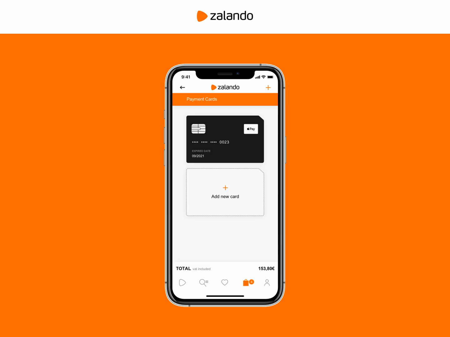 Dailyui 02 Zalando Payment App Mobile By Gianluca Delgado Pires On Dribbble