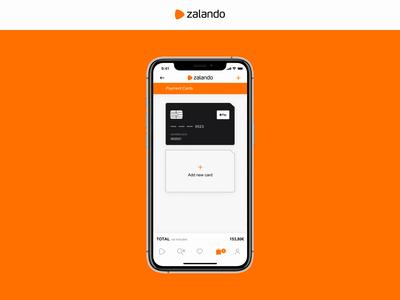 DailyUI 02 - Zalando Payment (App Mobile) dailyui 002 dailyui today minimal pay apple credit card zalando daily app design ux