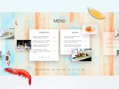 Menu page REEF Restaurant (Kiev, Ukraine)