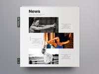Treblab News Page concept