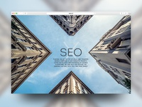 "Start Page concept ""XSEO digital agency"""