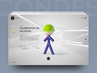 web site design for Painter and Sculptor Lina Condes