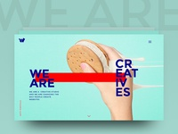 We Are Creatives (start page concept)