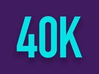 Oh My God! Wow – 40000 on Instagram
