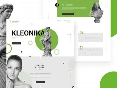 KLEONIKA web design wittydigital ui beauty cosmetic renovation aesthetic medical skin clinic dermatology medicine kleonika