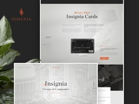 Insignia finance concierge, corporate site design