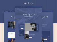 """Insignia"" finance concierge, corporate site design"