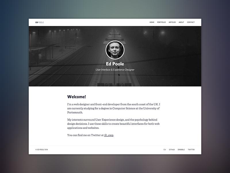 Site Redesign 2014 redesign user experience interface responsive hero blog portfolio