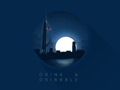 Drink & Dribbble dribbble meetup playoff rebound flat light shadow portsmouth sea gunwharf