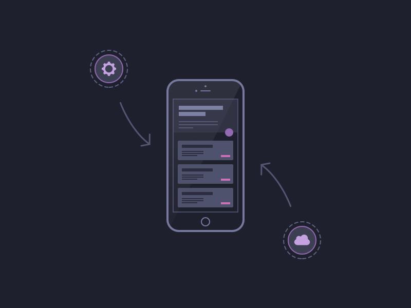 App Design web design brand ui flat line illustration