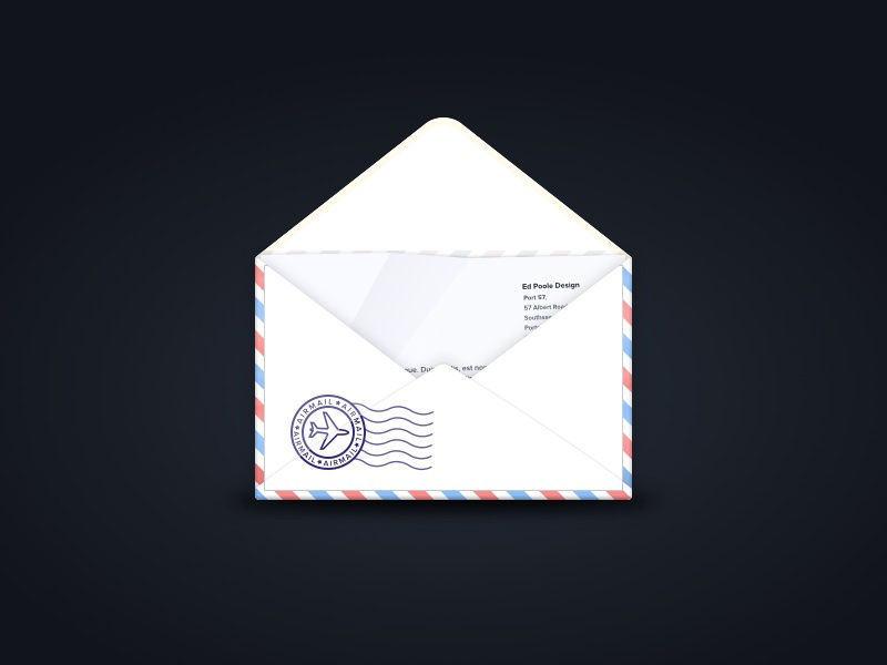 Air Mail stamp letter airmail mail envelope drawing sketch vector icon logo illustration