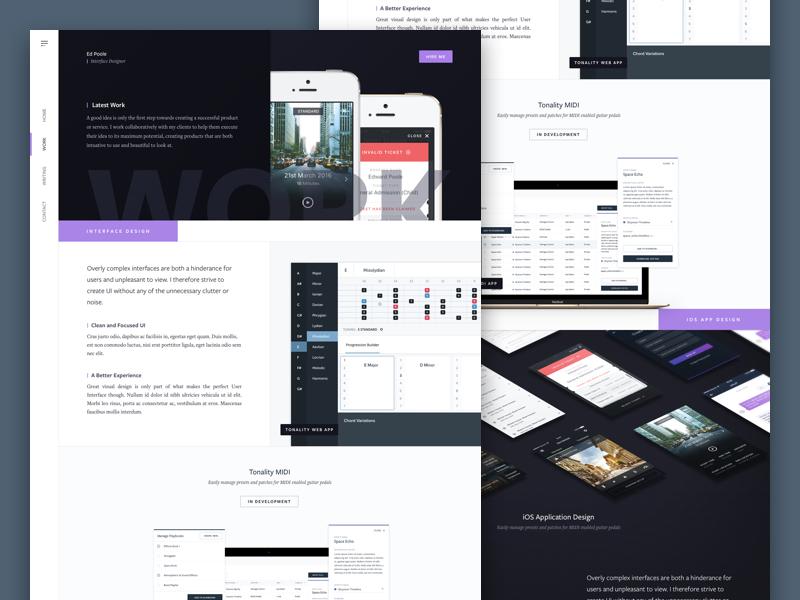 Old Portfolio Design web landing marketing interface icon design