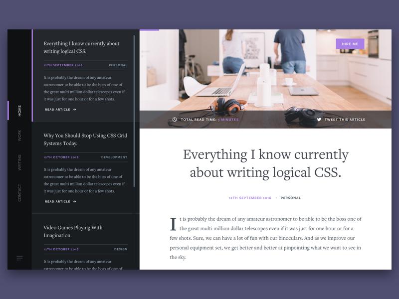Blog Concept blog web marketing landing interface icon design