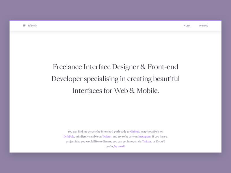 New Portfolio ux marketing portfolio ui web